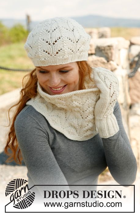 Free knitting pattern: hat, scarf, gloves