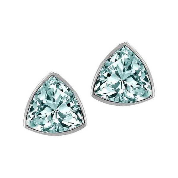 1.50 cttw Genuine Trillion Aquamarine Earring Studs in 14k White… (4 305 UAH) ❤ liked on Polyvore featuring jewelry, earrings, accessories, 14 karat gold earrings, aquamarine stud earrings, 14k jewelry, studded jewelry and aquamarine jewelry