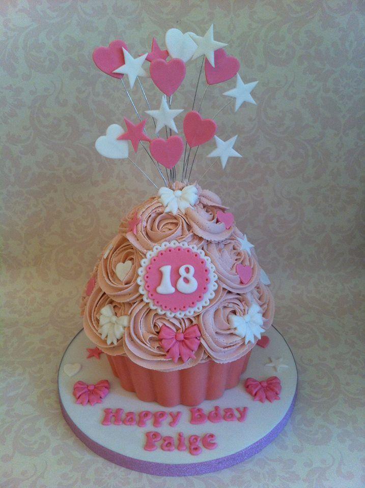 Girly Pink Birthday Cakes