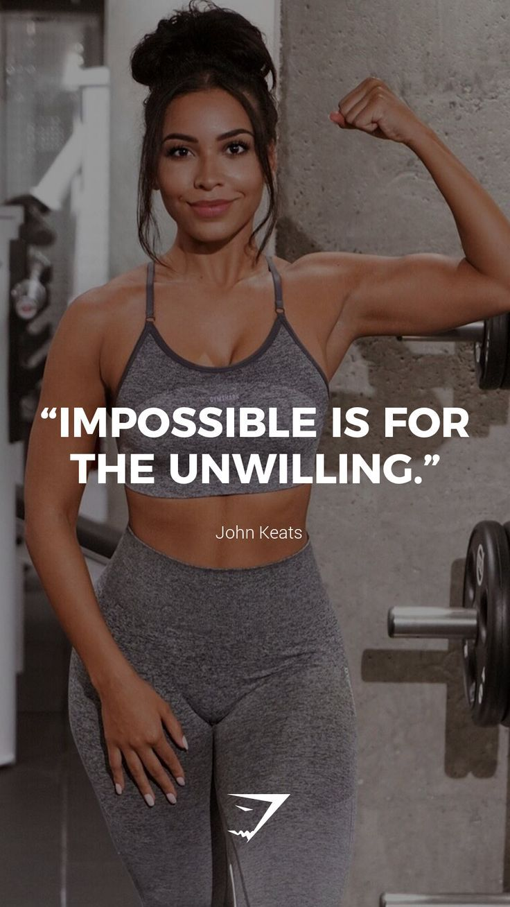 """""""Impossible is for the unwilling."""" – John Keats. #Gymshark #Quotes #Motivational…"""