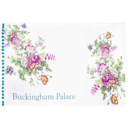 - イギリス雑貨と紅茶とハーブティーのお店 English Specialities バッキンガム宮殿 フローラル ポンポン ティータオル