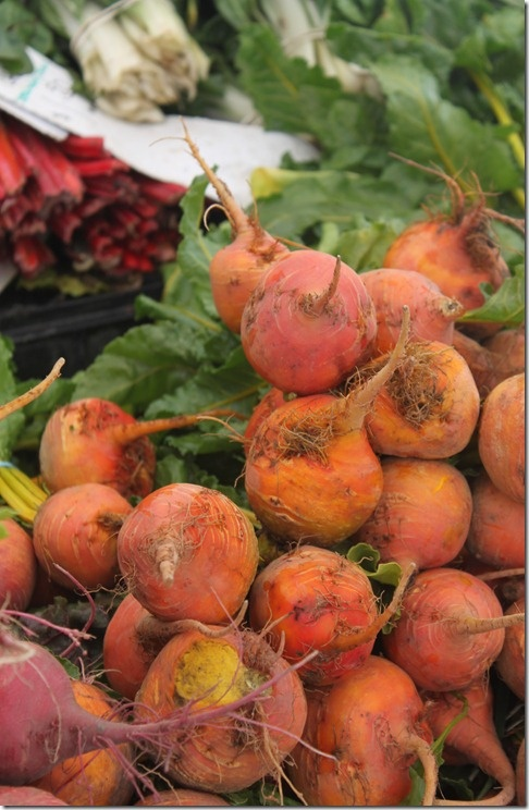 Fresh Organic Beets from the Santa Monica Farmer's Market