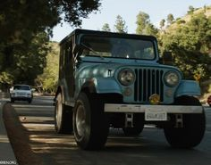 blue and black 1980 cj5 jeep - oh yeah!