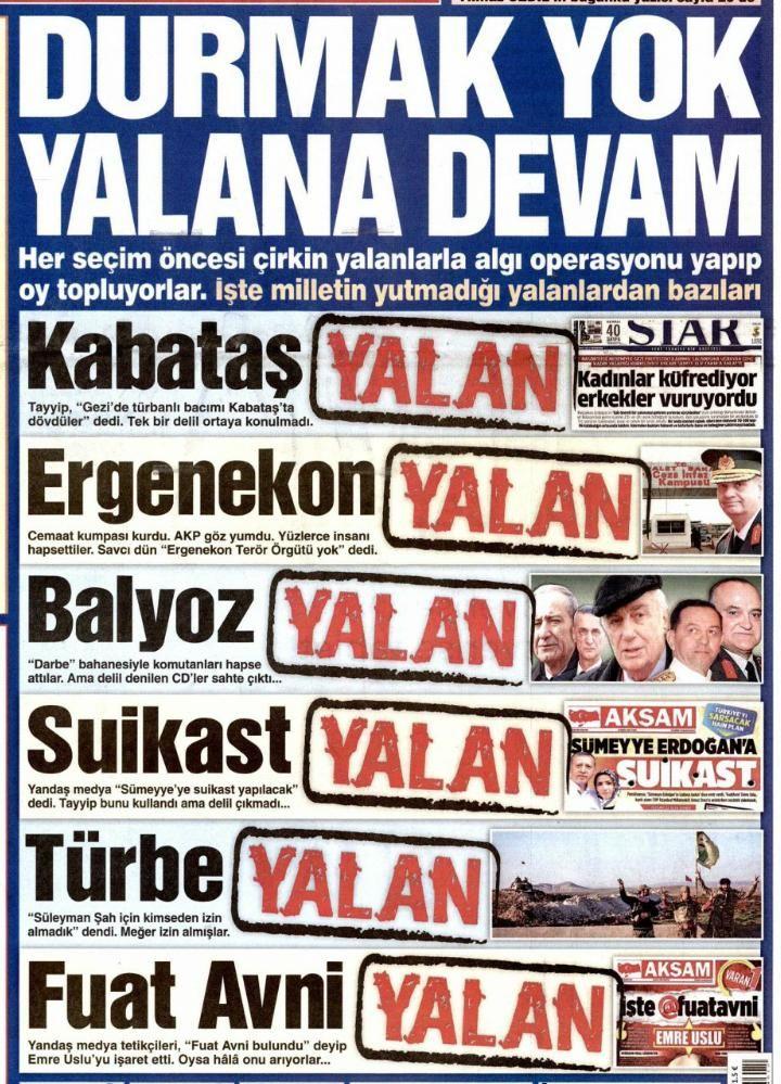 """Durmak yok, YALANA DEVAM... Tayyip Türkiyesi... #YasarKemal   """""""
