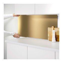 IKEA - LYSEKIL, Painel de parede, Protege a parede contra a sujidade e facilita a limpeza.Resistente ao calor, água, gordura e sujidade, podendo ser colocado na parede atrás da bancada de cozinha e da placa de fogão (exceto se for a gás).