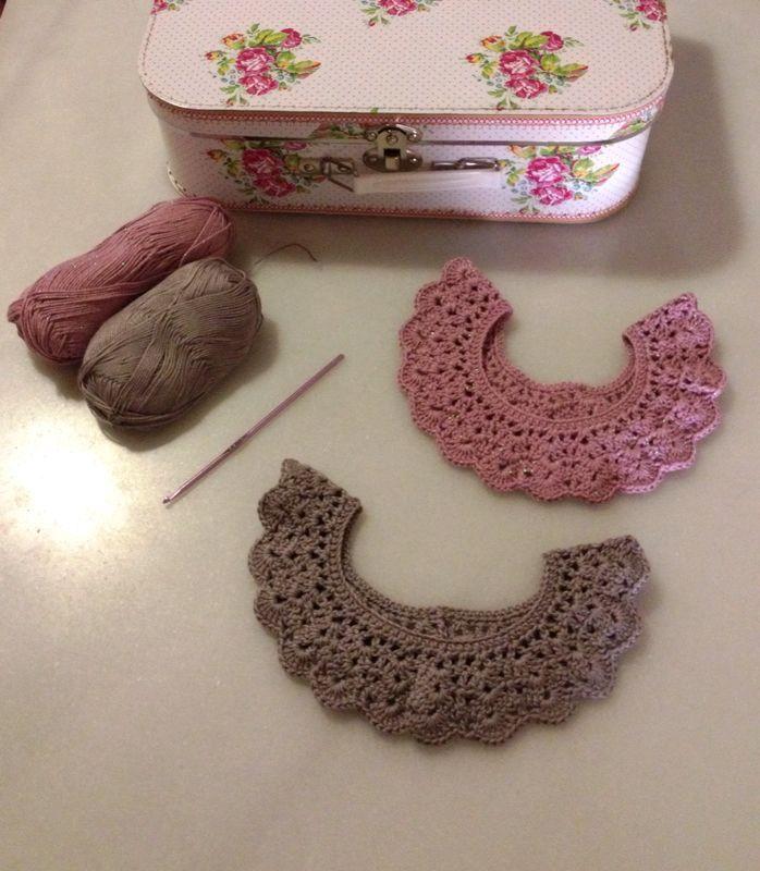 Collares de www.poleomentatejiendo.com #knittong #crocheting #handmade @Mariana Staykova Poleomenta
