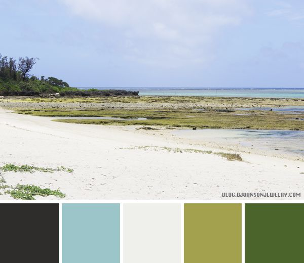 Color Palette - At The Beach | Oh Everything Handmade