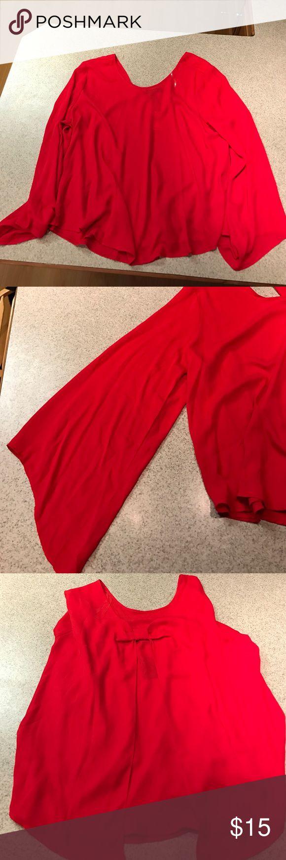 Red Ashley Stewart shirt Red nwt Ashley Stewart shirt Ashley Stewart Tops Blouses