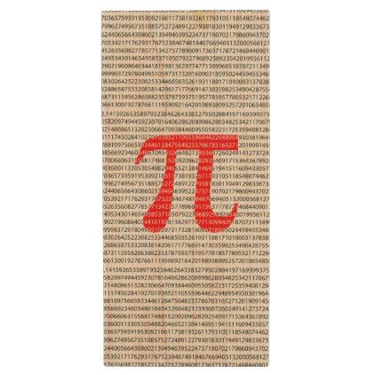 Original red number pi day mathematical symbol wood USB flash drive - red gifts color style cyo diy personalize unique