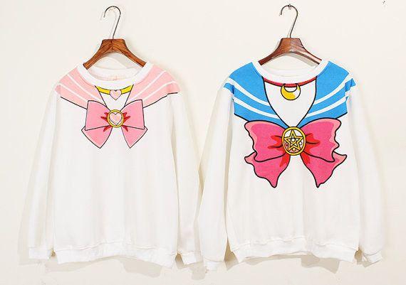 "Sailor Moon and Chibi Moon Screen Print Shirts | Community Post: 19 Fantastic Gifts Every ""Sailor Moon"" Fan Would Love"