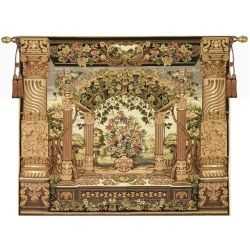 Floral Pergola Tapestry Wall Hangings