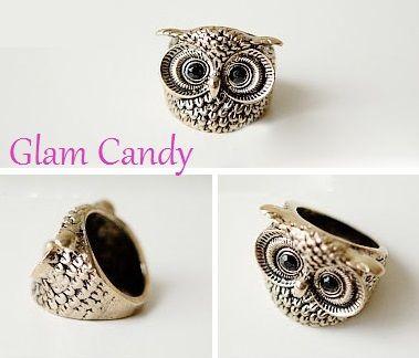 Shop: www.worldofglamoursa.com #Owl #Ring #Cute