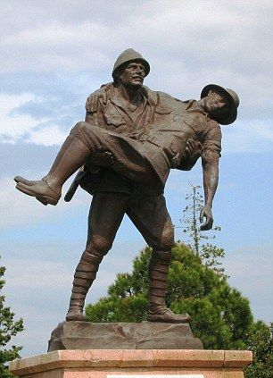 20. Turk carrying Anzac, Gallipoli, Turkey