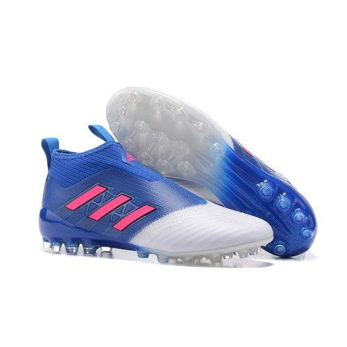 Scarpe Adidas Ace 17 Purecontrol Ag Blu Bianche Rosa