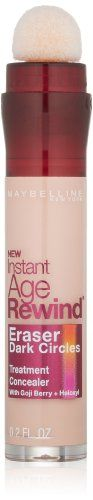 Maybelline New York Instant Age Rewind Eraser Dark Circles Treatment Concealer, Brightener 160, 0.2-fluid Ounce Maybelline http://smile.amazon.com/dp/B004Y9GY44/ref=cm_sw_r_pi_dp_6iG6ub1PKPS5F