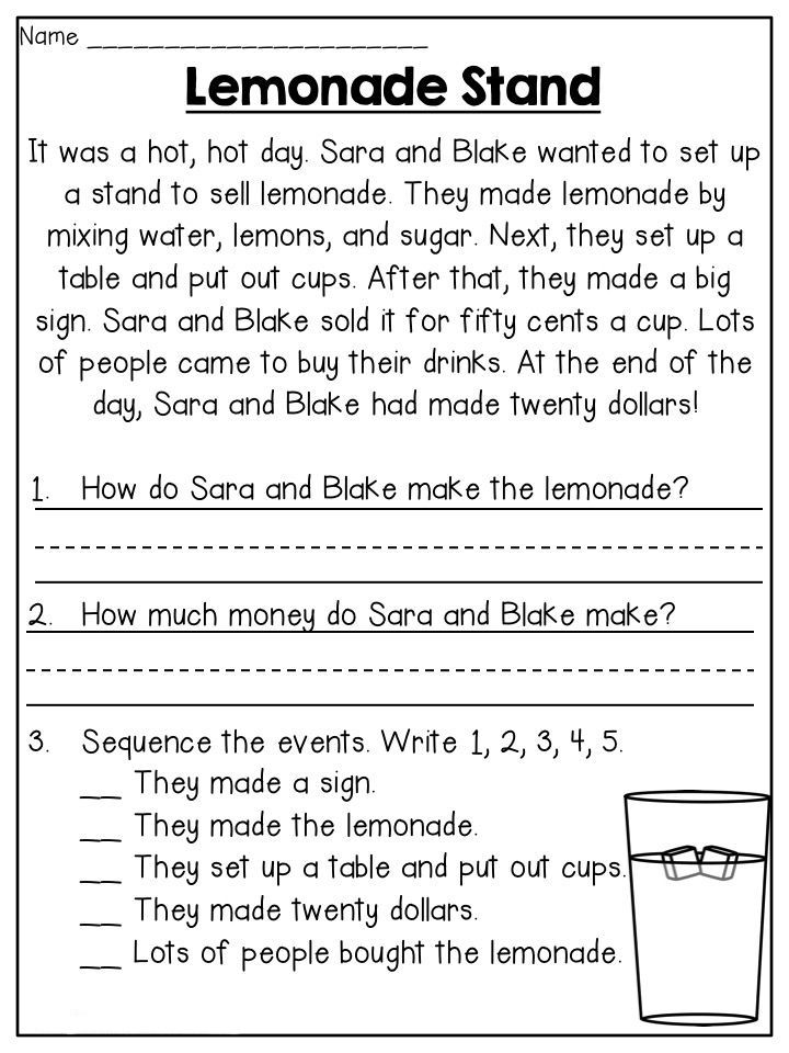 Reading Comprehension Worksheets - Best Coloring Pages For Kids First  Grade Reading Comprehension, Reading Worksheets, Reading Comprehension  Worksheets