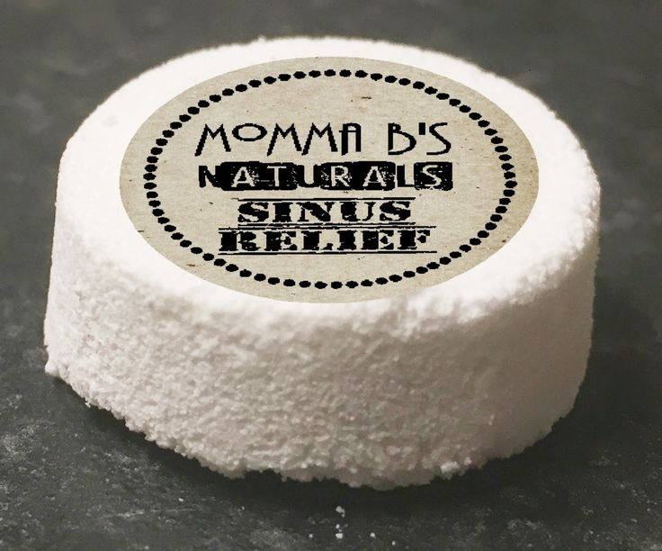 Natural Sinus & Chest Congestion Relief Soothing Fizzy Bath Shower Bomb by MommaBNaturals on Etsy