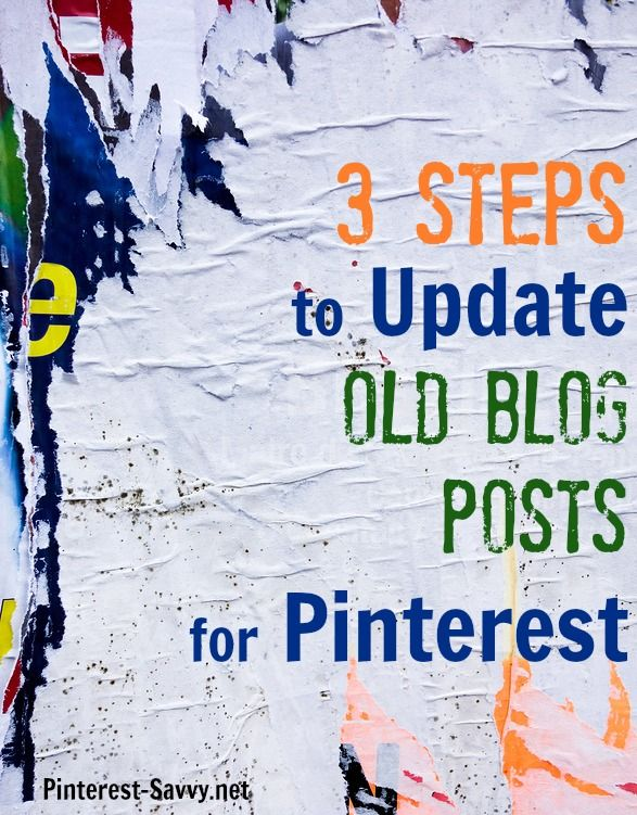 3 Easy Steps to Update Blog Archives for Pinterest - Pinterest Savvy: How I Got 1 Million+ Followers