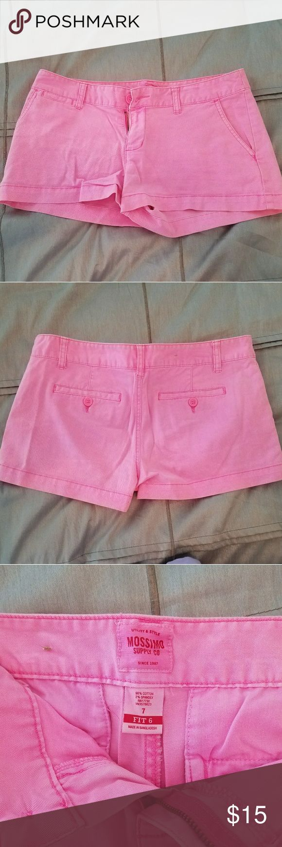 Mossimo neon shorts These shorts are Mossimo and are a neon pink. Mossimo Supply Co Shorts