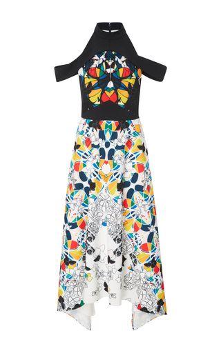 2017 Bibhu Mohapatra Off the Shoulder Dress…