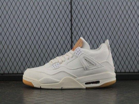 "732726d7d419ca Levis x Air Jordan 4 ""White"" AO2571-100"