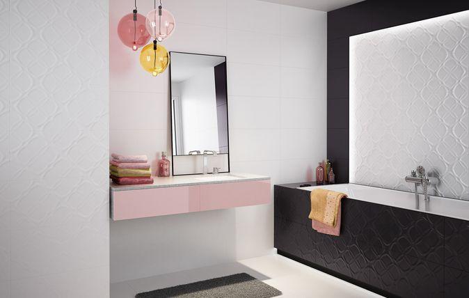 Zawsze modny kontrast i operowanie delikatnymi strukturami to najważniejsze cechy minimalistycznej kolekcji płytek ściennych Esten. Ta, inspirowana geometrycznymi formami zaczerpniętymi ze świata natury propozycja, świetnie sprawdza się w jasnych, przestronnych wnętrzach nowoczesnych łazienek i kuchni. kobieta I kobiece wnętrza I łazienka I dekoracje I aranżacja I architektura I bathroom I bathroom inspiration I salon I kuchnia I ceramic | ceramic tiles | women I accesories | modern