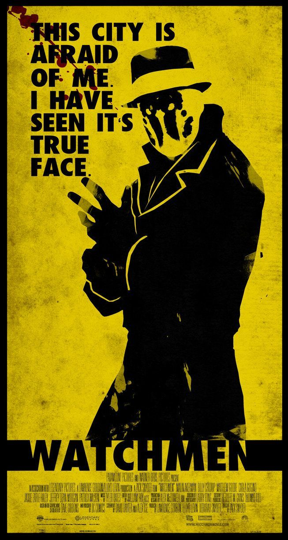 Watchmen Rorschach Minimalist Poster By Chipsess0r Watchmen Rorschach Dc Comics Poster Rorschach