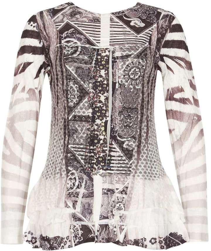 Izabel London *Izabel London Multi Coloured Long Sleeve Top