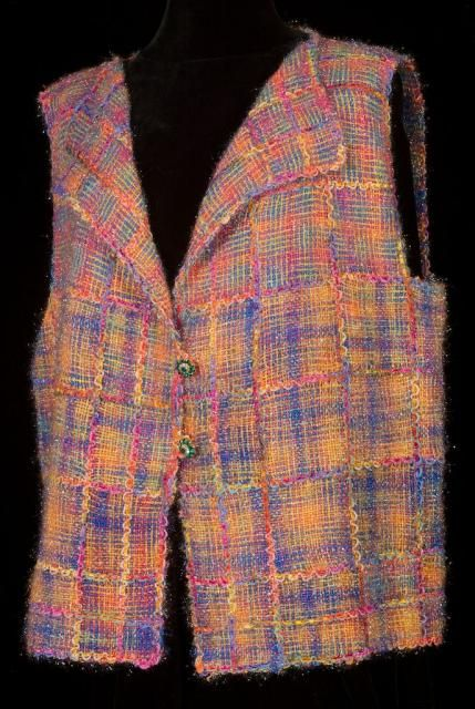 Sparkle Plaid - pin loom weaving