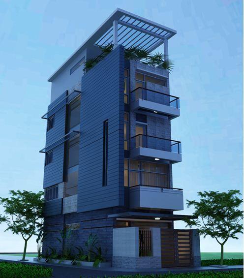 M u nh ng 4 t ng hogar ideas pinterest immeuble for Facade immeuble moderne