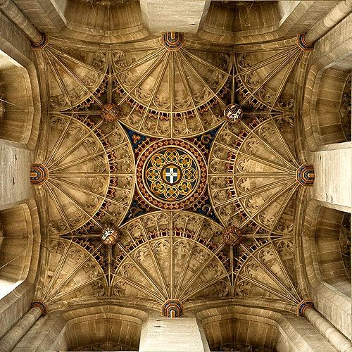 Tower ceiling, Canterbury Cathedral, Canterbury, Kent, England - www.castlesandmanorhouses.com