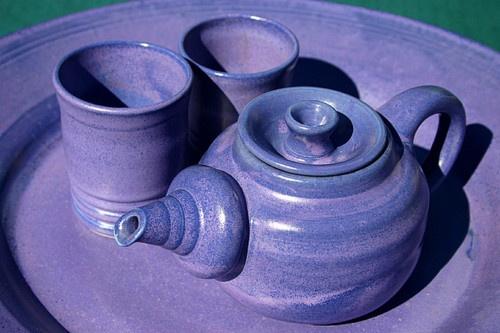 .Pottery Wheels Throw Teapots, Photos, Tea Sets, Sb Purple, Drinks Teas, Things Purple, Teas Sets, Purple Love, Purple Teas
