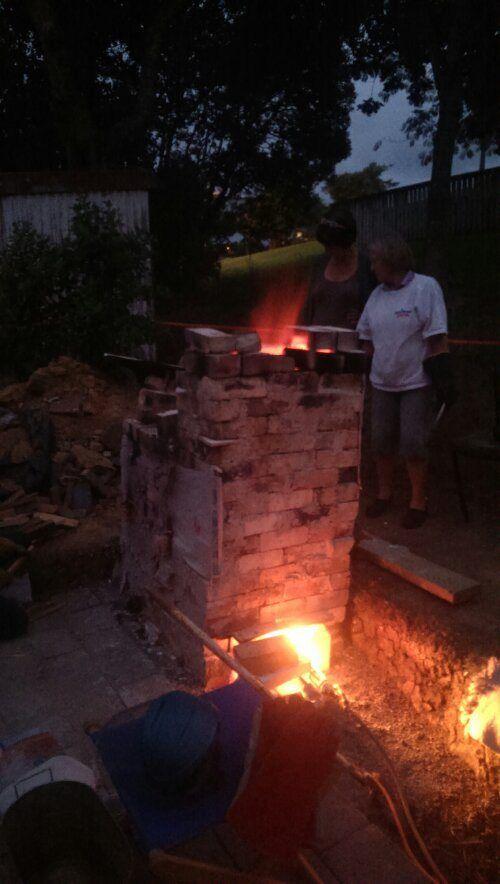Almost up to temperature... Soda firing kiln