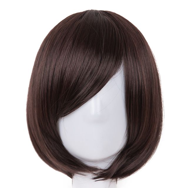 Synthetic None-lacewigs Cosplay Wig Fei-show Synthetic Heat Resistant Fiber Short Wavy Hair Women Ladies Costume Halloween Carnival Events Hairpiece