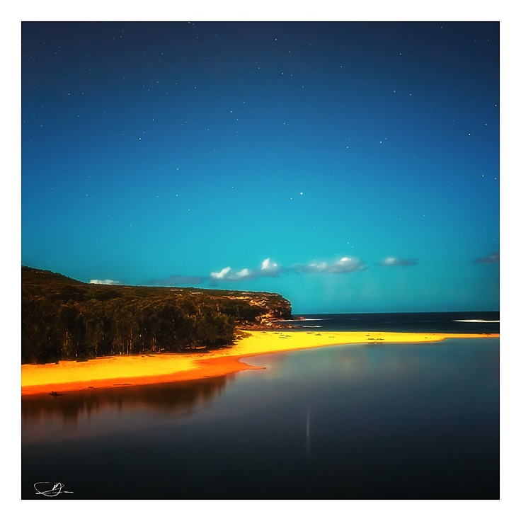 Night at the Beach by mdomaradzki.deviantart.com on @deviantART
