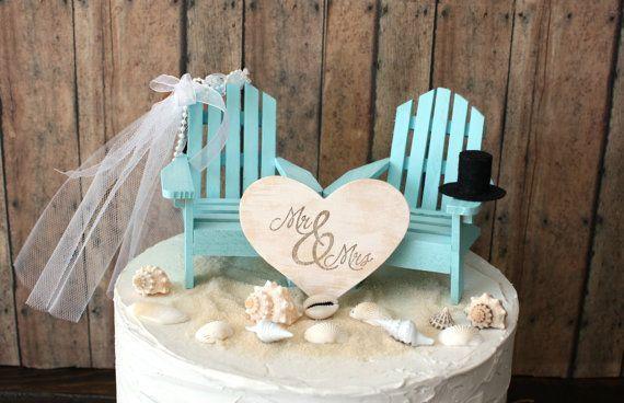 custom adirondack chairs wedding cake topper beach wedding destination