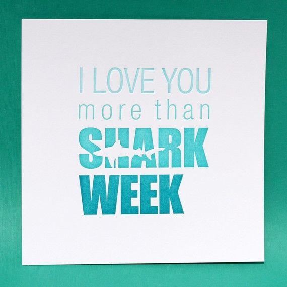 LOVE shark week!