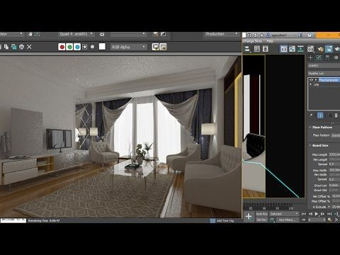 3Ds Max 2017 Interior Tutorial Modeling Design - YouTube