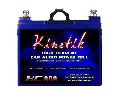 Capacitors: Kinetik Hc800 Blu 800W 12V High Current Agm Car Audio Battery Power Cell (Blu... BUY IT NOW ONLY: $109.62