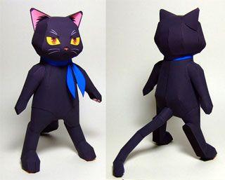 anime papercraft | Anime Black Cat Papercraft