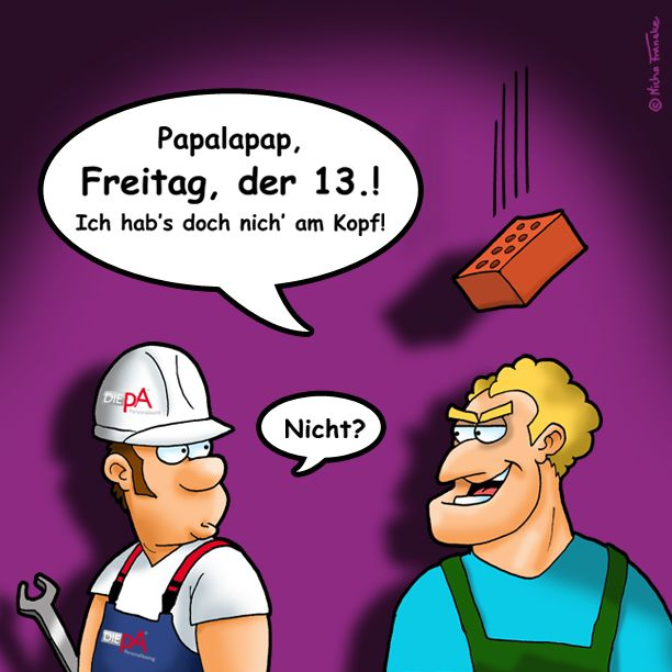 Es ist wieder mal so weit. Auch 2017 bleibt uns ein Freitag der 13. nicht erspart. Damit dieser Tag ohne Blessuren vorüber geht, immer schön an den Arbeitsschutz denken! Wir wünschen einen unfallfreien Start ins Wochenende.  #wochenende #freitag #freitagder13 #arbeit #zeitarbeit #job #jobsuche #jobbörse #happy #unfallfrei #luckyday #berlin #köln #hamburg #münchen #magdeburg #anhalt #sachsenanhalt #DIEpA