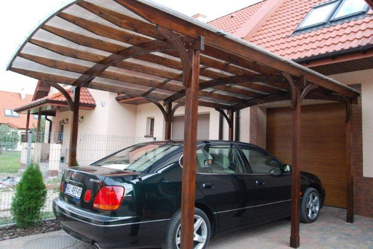 Drewniany garaż Jagram SA