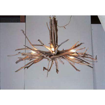 Lustre en bois flott recherche for Recherche bois flotte