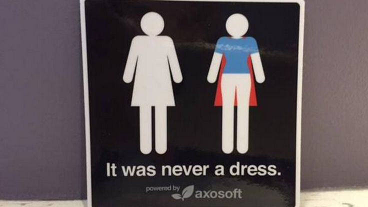 #ItWasNeverADress Is The Awesome Campaign That Just Gave The Women's Bathroom Symbol A Major Upgrade — PHOTOS | Bustle