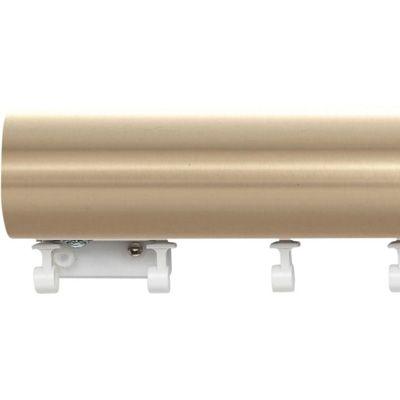 Kirsch Estate Designer Metals 2 Decorative Traverse Rod With Ripplefold Slides To The Window