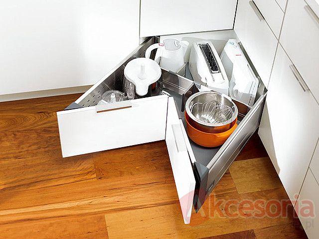 Tandembox ANTARO -SYNCROMOTION Do Wysokiej Szuflady D Narożnej, Blum - Akcesoria