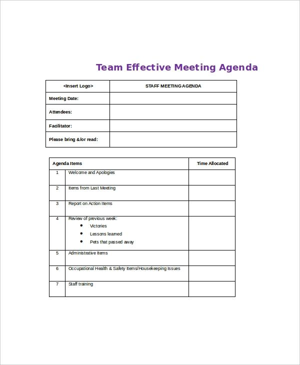 11 Meeting Agenda Template Meeting Agenda Meeting Agenda