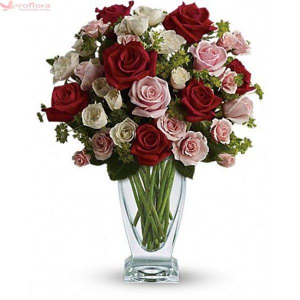 Mad about You - Buchet de trandafiri si minirosa