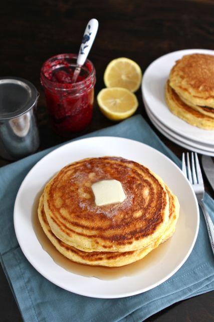 lemon-cornmeal-pancakes