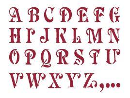 decoupage graffiti | Stencil alfabeto graziato maiu Stamperia - Stamperia -